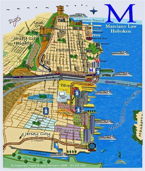printable street map of hoboken nj hoboken map frank marciano hoboken life