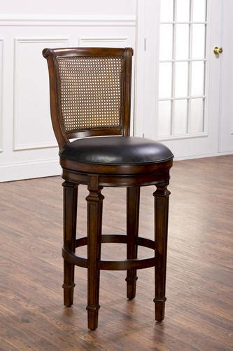 cane back bar stools dalton 30 quot seat height cane back bar stool with leather seat at menards 174