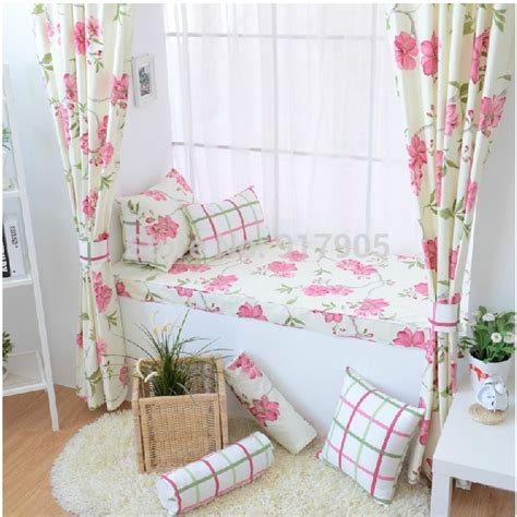 vintage bedroom curtains hot selling romantic rustic vintage floral print curtains