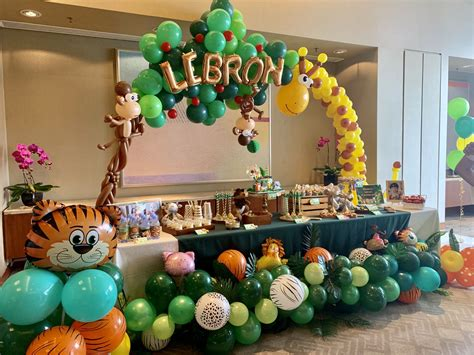 safari theme party decorationdessert table baby shower