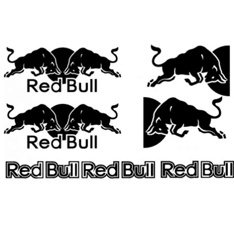 Stickers Red Bull Noir by Stickers Moto Redbull Stickers Malin