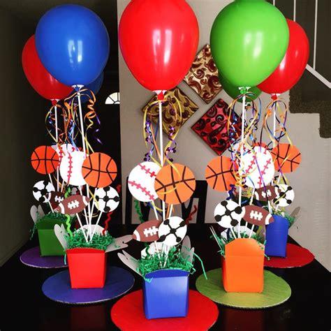 sports themed birthday decorations sports theme centerpieces diy 1st birthday diy