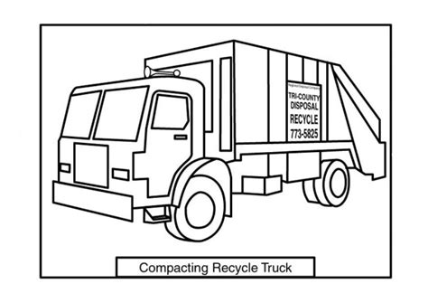 coloring page of trash truck bruder garbage truck coloring pages coloring pages