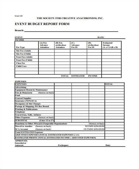 event expense report template 27 free expense report forms