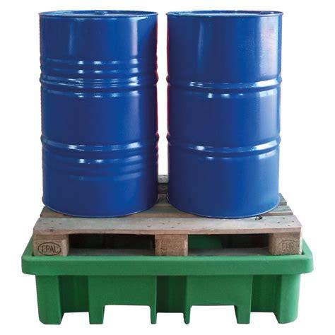 vasca in polietilene vasca in polietilene riciclato per 2 fusti a carico diretto