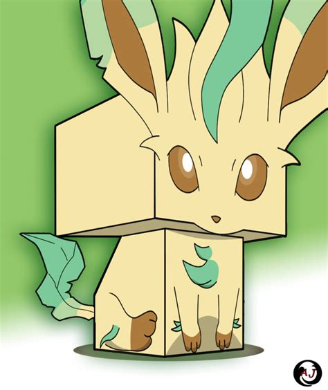 Leafeon Papercraft - 3d leafeon by jaramillo13 on deviantart
