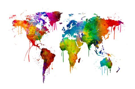 water color map watercolour world map affordable wall mural photowall