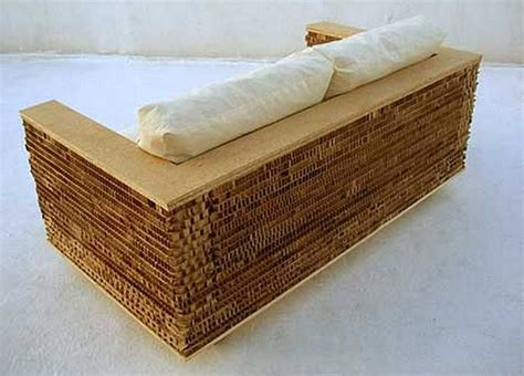 cardboard sofa the basic love seat by francisco cantu is made of