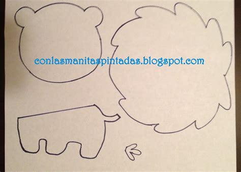 molde para goma eva de leon con las manitas pintadas como hacer un leon de goma eva
