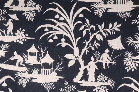 Vinyl Upholstery Dye 7 7 Yards Robert Allen Crystal Lake Printed Linen Blend