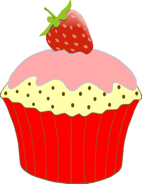 free cupcake clipart strawberry cupcake clip at clker vector clip