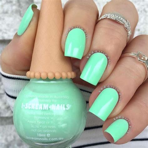 Mint Green Nail Polishes by Best 25 Mint Green Nail Ideas Only On