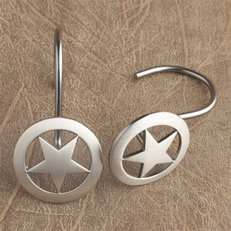 rustic shower curtain hooks rustic star shower curtain hooks cabin decor pinterest