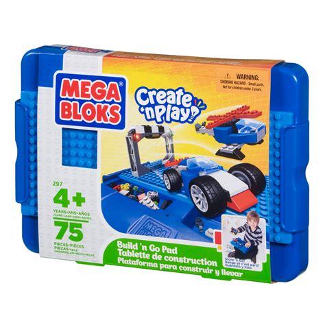 Blocks Playset Blue mega bloks create n play build n go pad boy toys blocks building sets blocks