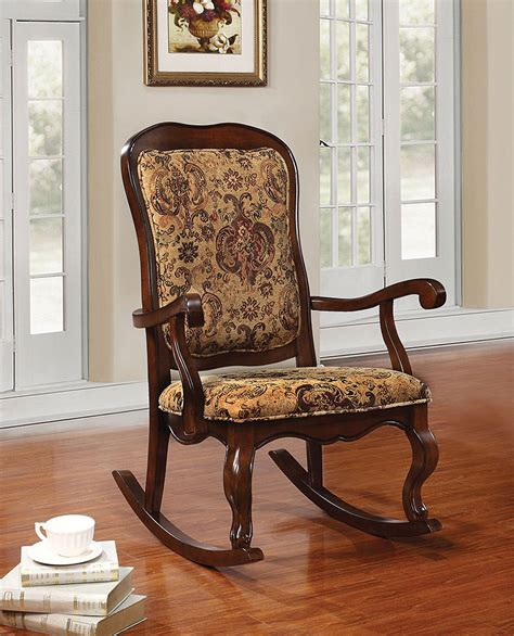 Cherry Rocking Chair - acme sharan cherry rocking chair sharan collection 6