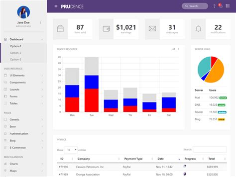vector bootstrap layout 48 responsive bootstrap 4 admin dashboard templates 2018