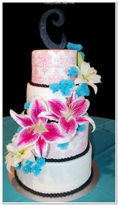 Stargazer Lily Wedding Cake Decoration Wedding Cake   Cake