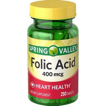 Mcg For Methhet Detox F Folate Supplements by Valley 400 Mcg Health Folic Acid