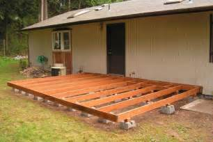 how to make a ground level wooden deck ehow