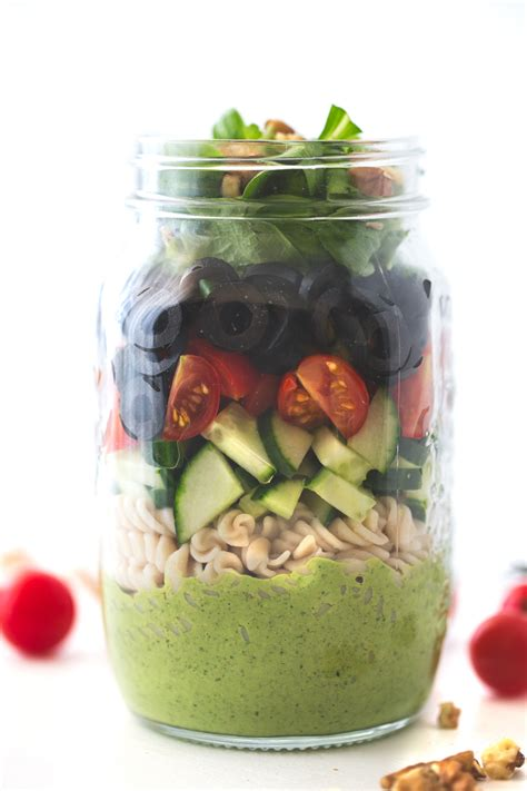in a vegan salad in jar simple vegan