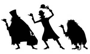 haunted mansion vinyl decals hitchhiking ghosts