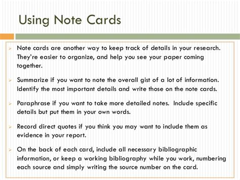 research note card slide template research papers gathering grid note cards