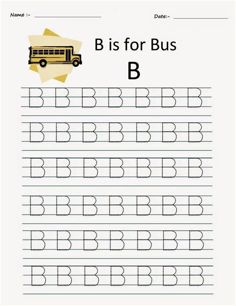 Letter B Worksheets by Kindergarten Worksheets Printable Tracing Worksheets