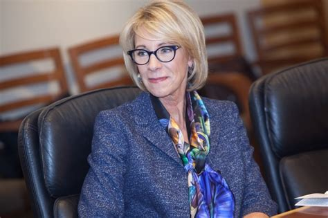 betsy decos betsy devos and teachers union leader trade barbs edsource