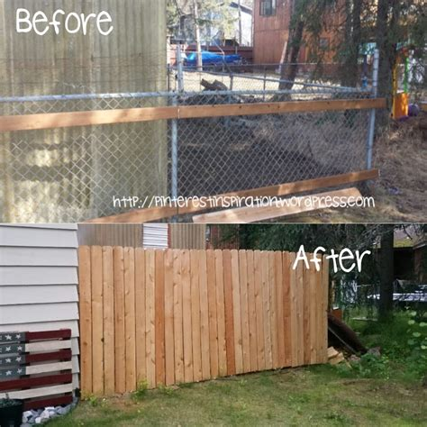 Ugly Backyard Makeovers Chain Link Fence Facade Pinterest Inspiration