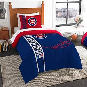 buy mlb chicago cubs twin embroidered comforter set from