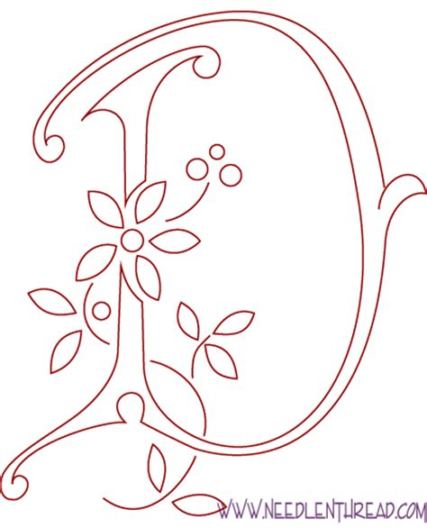 embroidery templates letters monogram for embroidery letter d needlenthread
