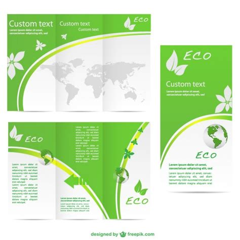 single page brochure templates psd plantilla de tr 237 ptico de ecolog 237 a descargar vectores gratis