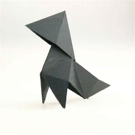 heavy rain origami tutorial video 3d printable origami heavy rain by valentin lheureux