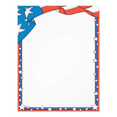 patriotic stationery printable patriotic usa letterhead letterhead template zazzle