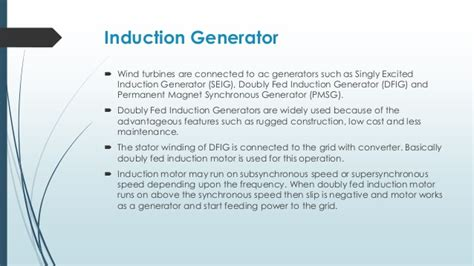 induction generator for wind power generation ppt induction generator operation ppt 28 images induction motors ppt 3 ph induction motor ppt