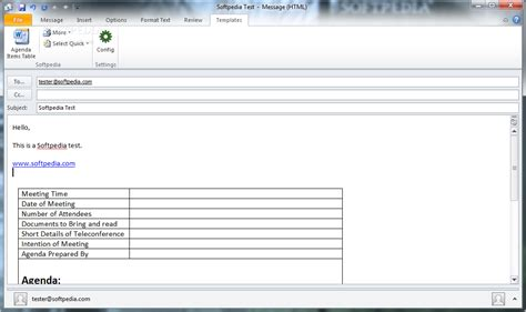 Outlook Template tzunami outlook templates