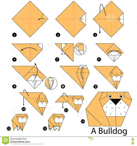 How To Make Toys With Paper Step By Step - step by step how to make origami a bulldog