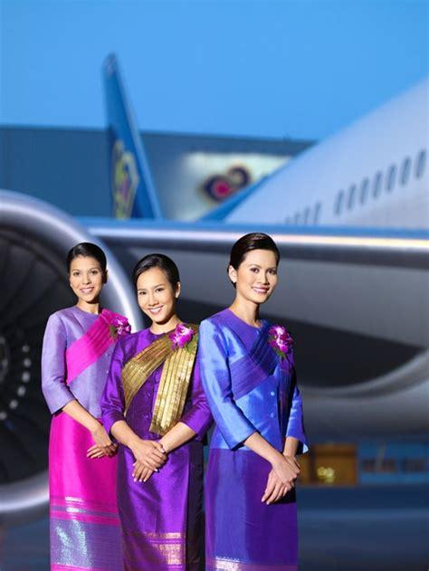 Flight Attendant Cabin Crew by Thai Airways Flight Attendant Stewardess Uniforms Cabin