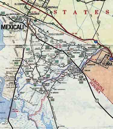map of mexicali baja california mexico