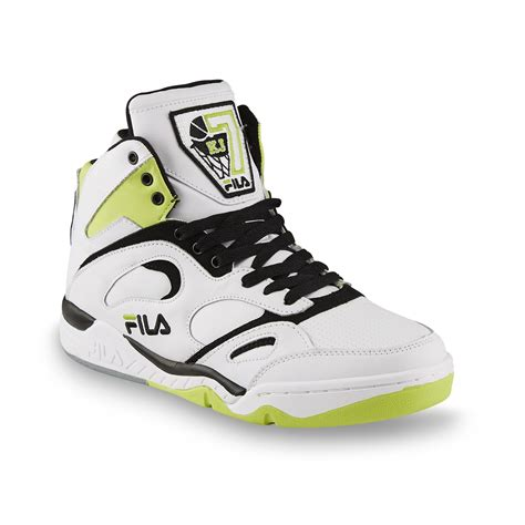 green basketball shoes fila s kj7 white black lime green basketball shoe