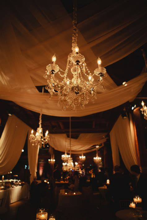 Candlelight Chandelier Sheer Drapes And Chandelier Candlelight Reception Decor Elizabeth Designs The Wedding