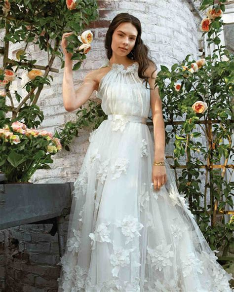 Flower Dresses For Wedding by Wedding Dresses Inspired By Flowers Martha Stewart Weddings