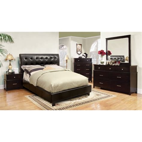 espresso queen bedroom set furniture of america junnie 4 piece queen bedroom set in