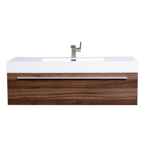Contemporary Bathroom Vanity In Walnut Tn T1200 Wn Modern Wall Mounted Bathroom Vanities