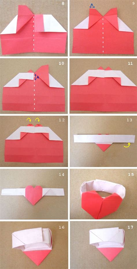 valentine origami tutorial lovers ring 17 best ideas about origami hearts on pinterest easy