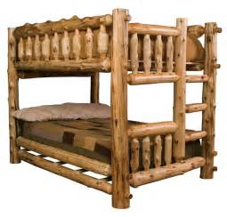wooden bunk beds what to choose log bunk bed adds the