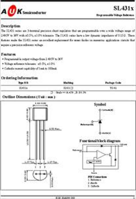 transistor w431 datasheet sl431x datasheet programmable voltage reference