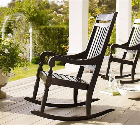 Handcrafted Rocking - handcrafted wooden black outdoor rocking chair