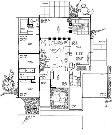 26 best eichler floor plans images on pinterest modern 1067 best images about mid century modern houses and floor