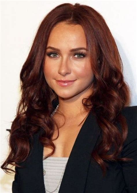 auburn haired actresses hayden panettiere with brown hair celebrities with